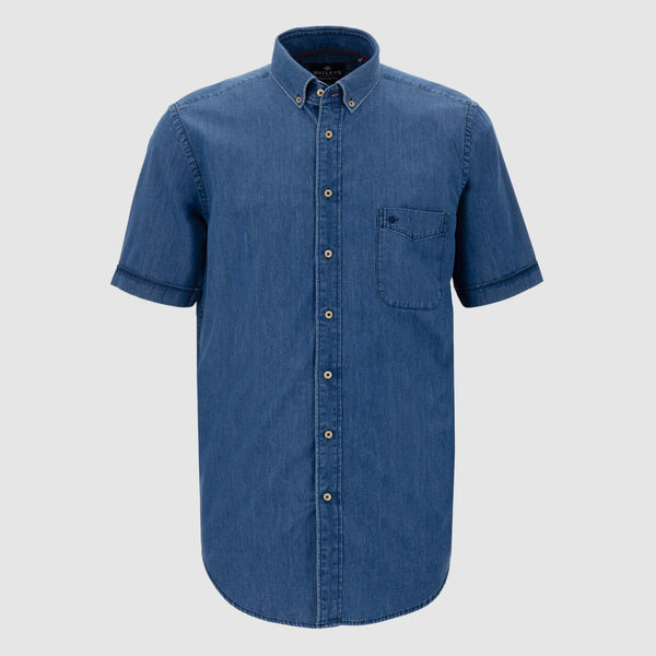 Camisa vaquera manga corta regular fit 106049