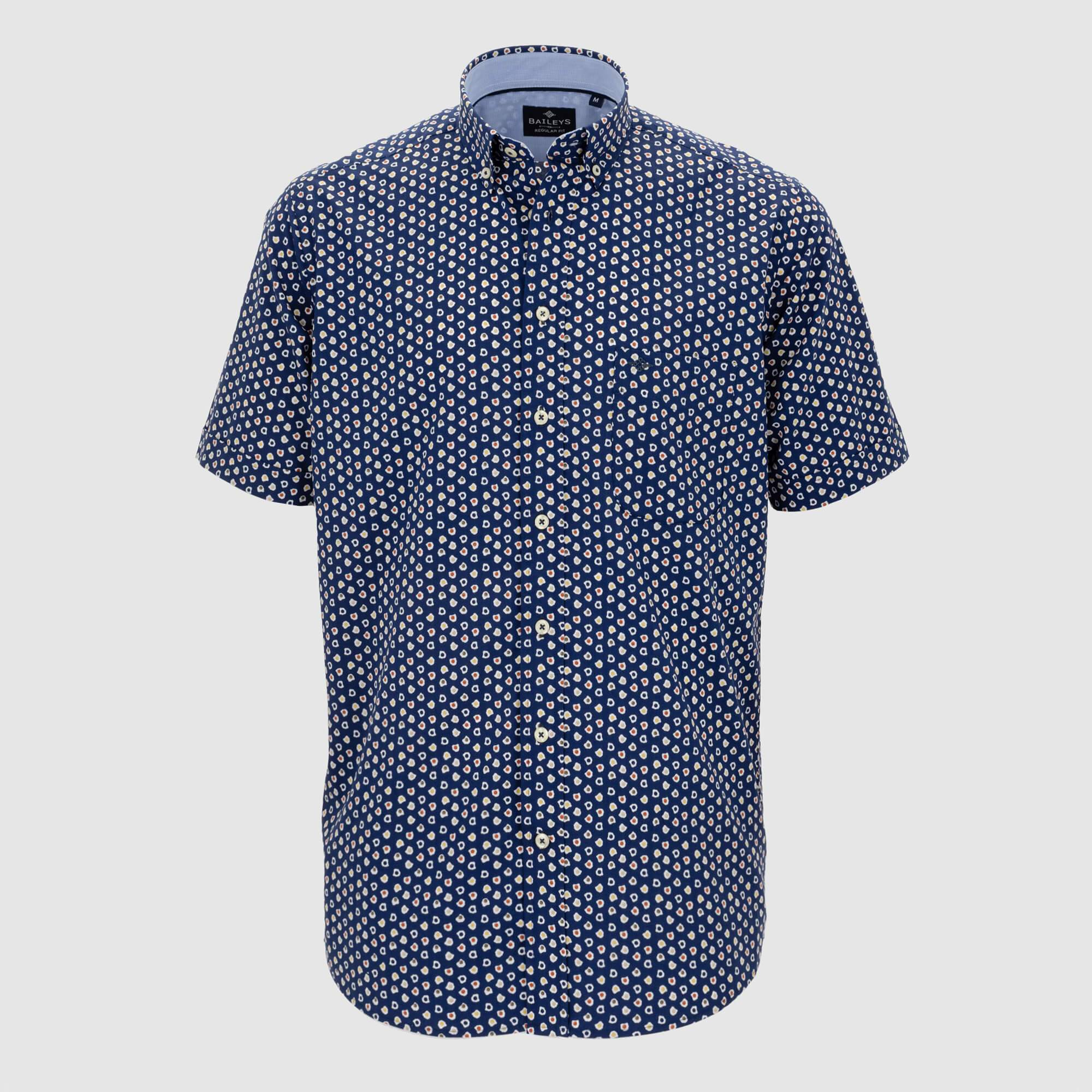 Camisa estampada manga corta regular fit 106674
