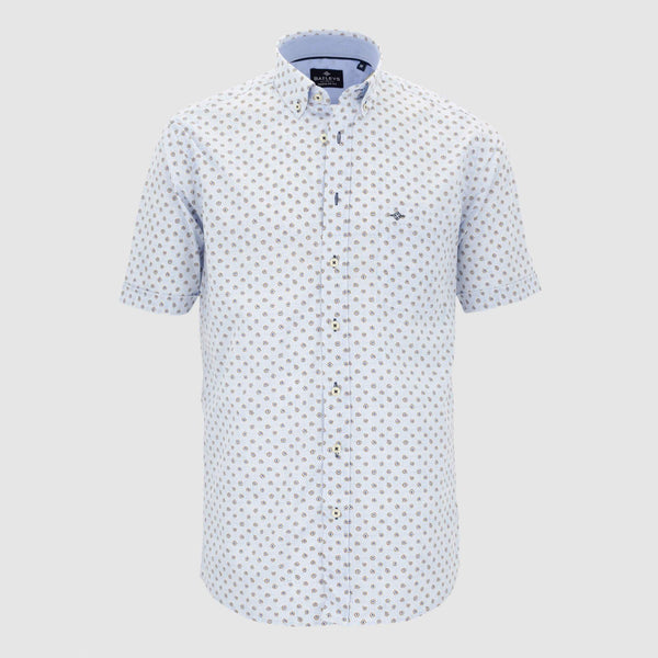 Camisa estampada manga corta regular fit 106694