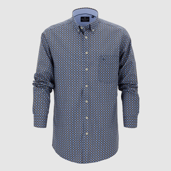 Camisa estampada corte regular fit 927676