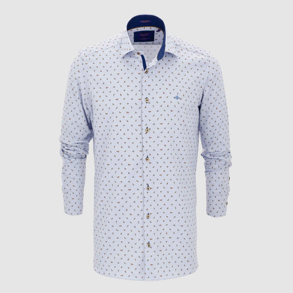 Camisa estampada diseño exclusivo slim fit 927814