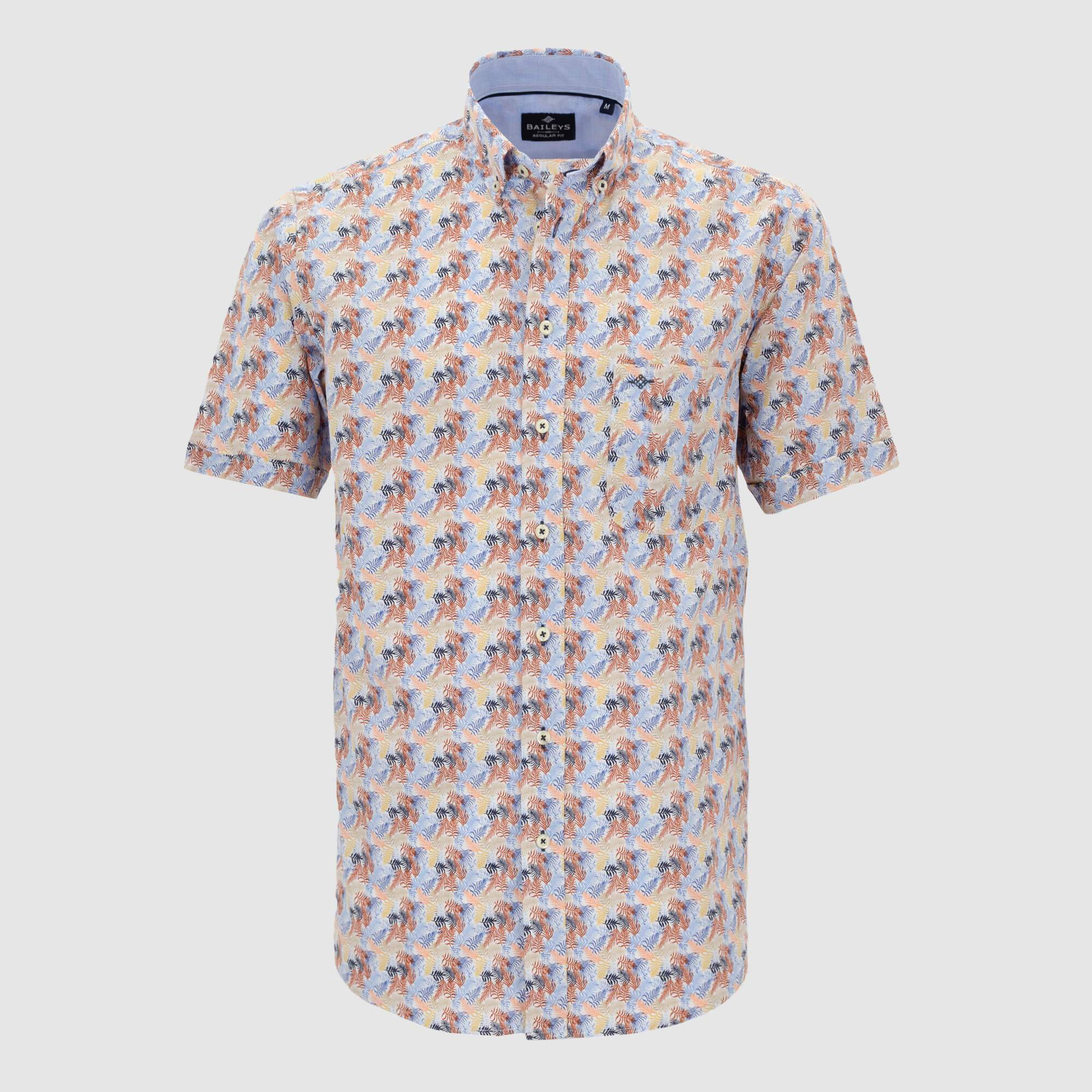 Camisa estampada manga corta regular fit 106684