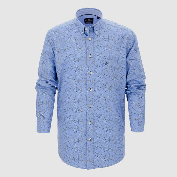 Camisa estampada corte regular fit 927680