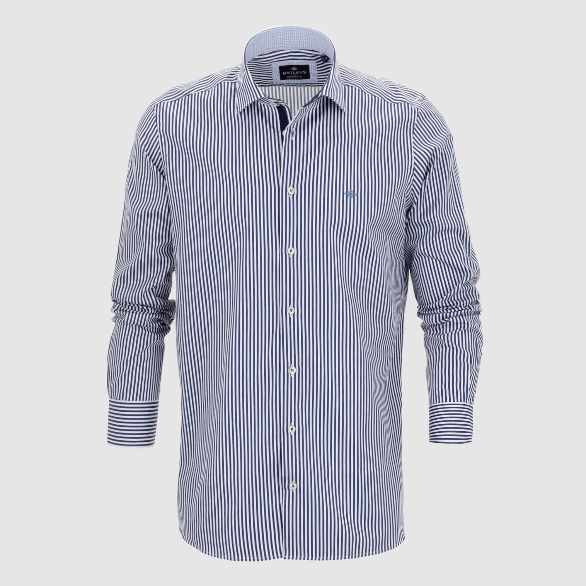 Camisa de rayas slim fit 927845