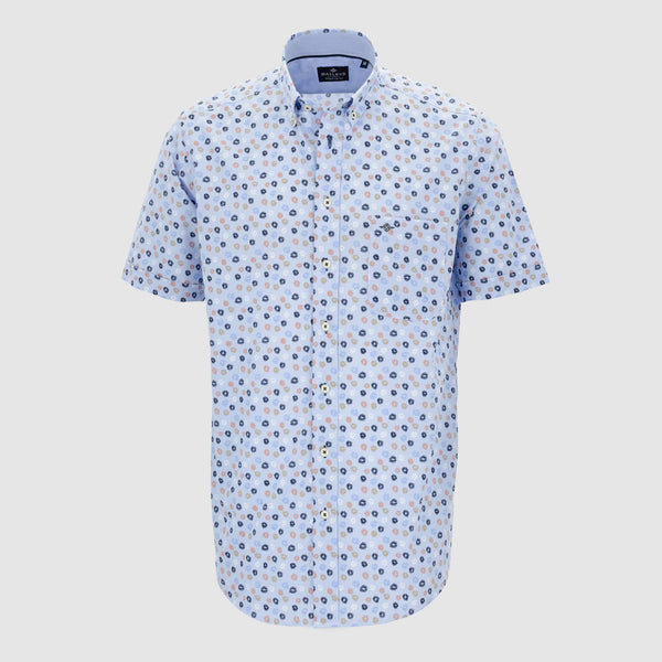 Camisa estampada manga corta regular fit 106685