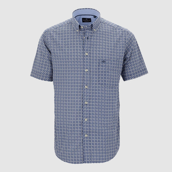 Camisa estampada manga corta regular fit 106697