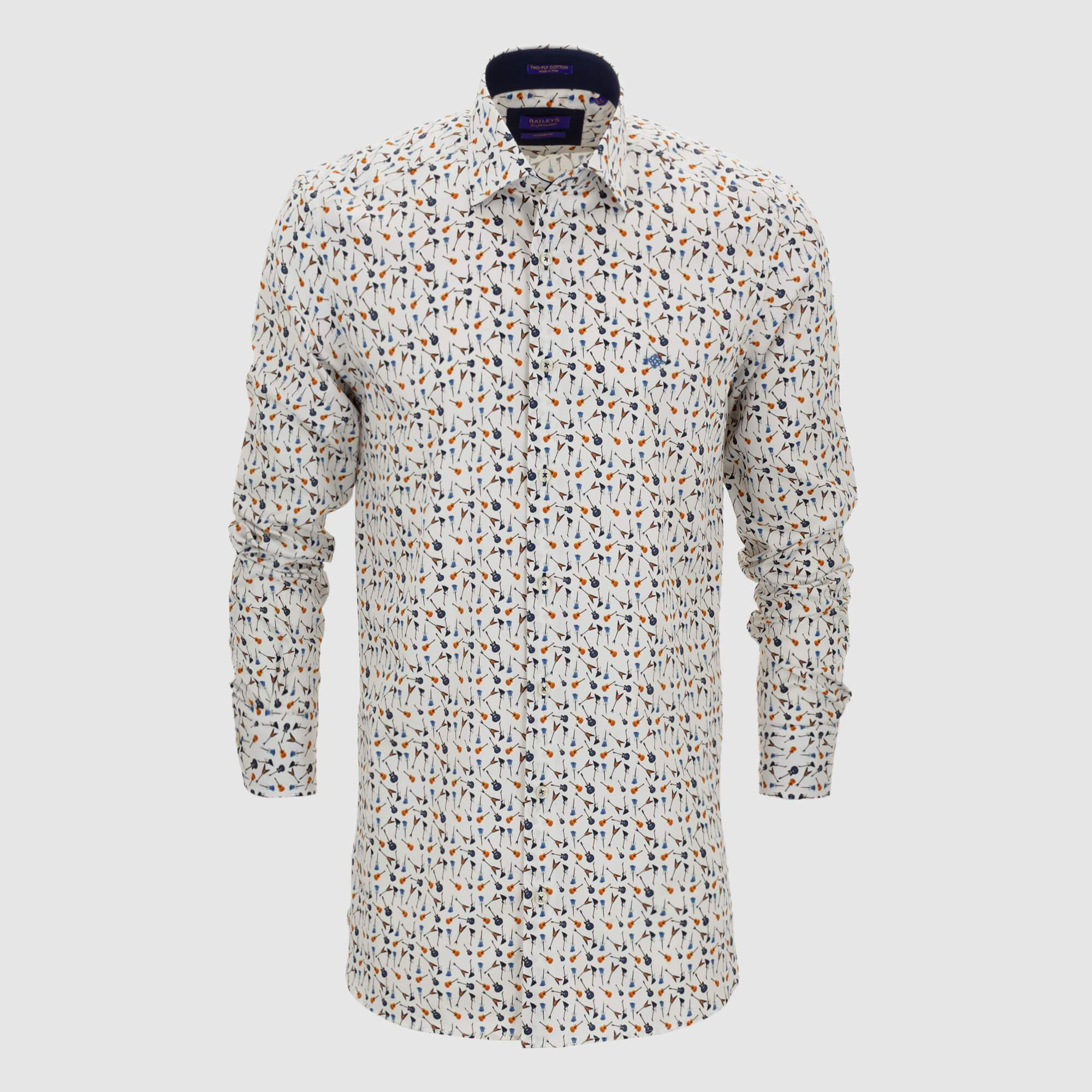 Camisa estampada diseño exclusivo slim fit 927505