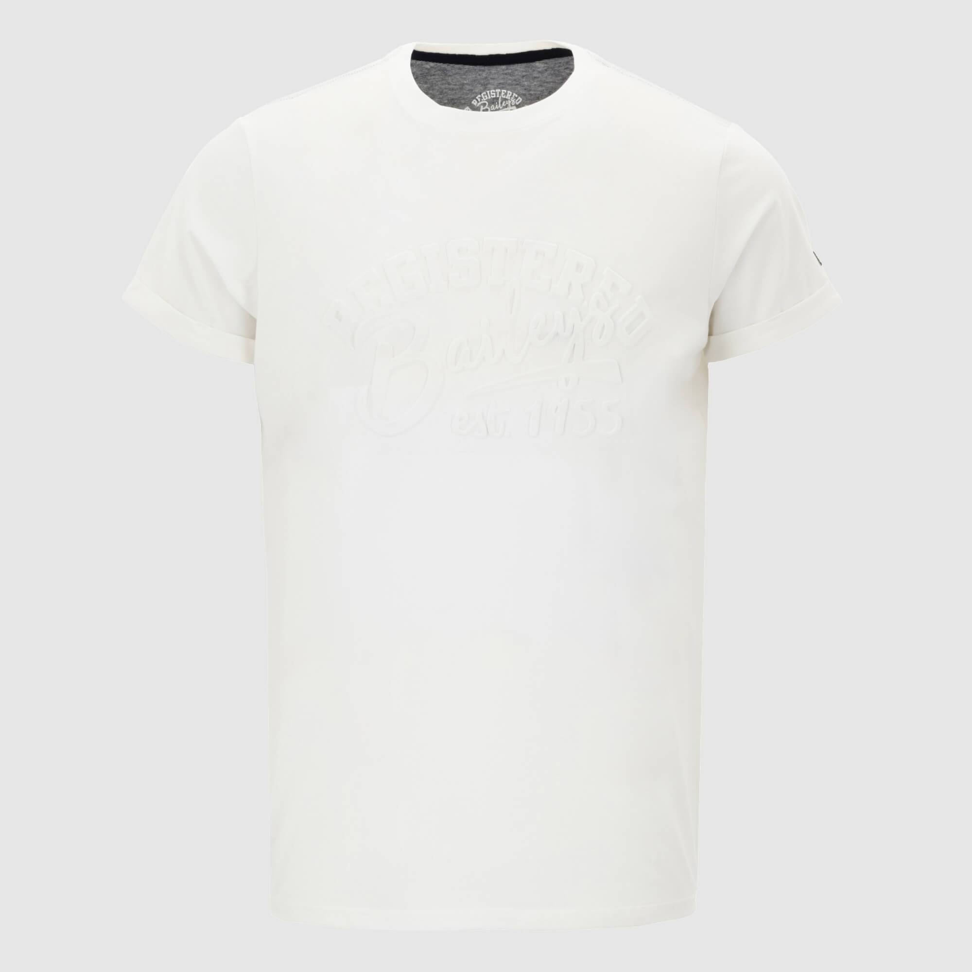 Camiseta texto relieve manga corta 105002