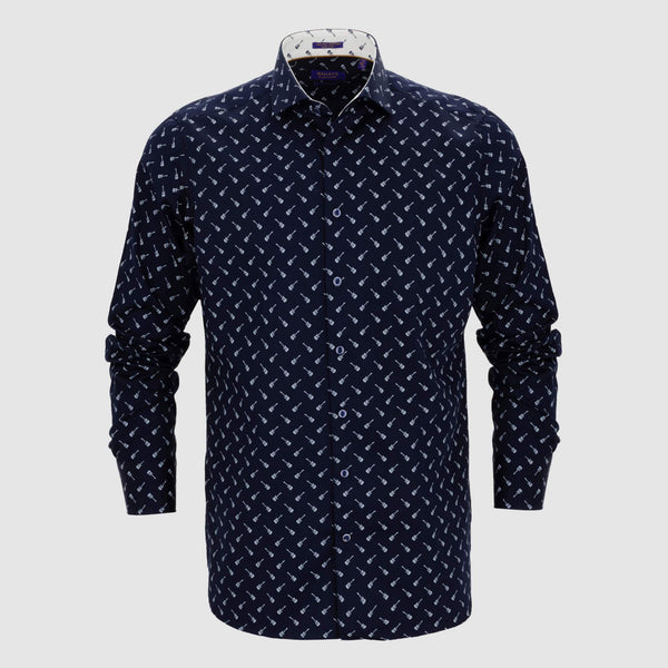 Camisa estampada diseño exclusivo slim fit 927828