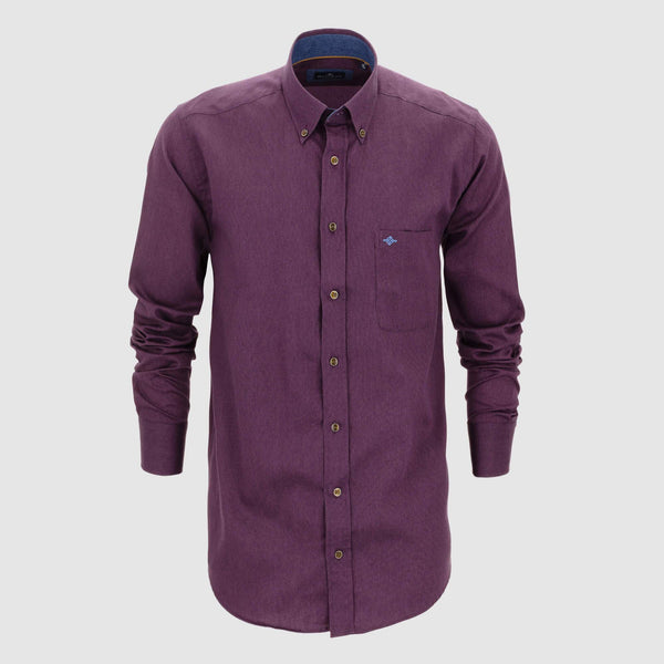 Camisa lisa algodón regular fit 927009