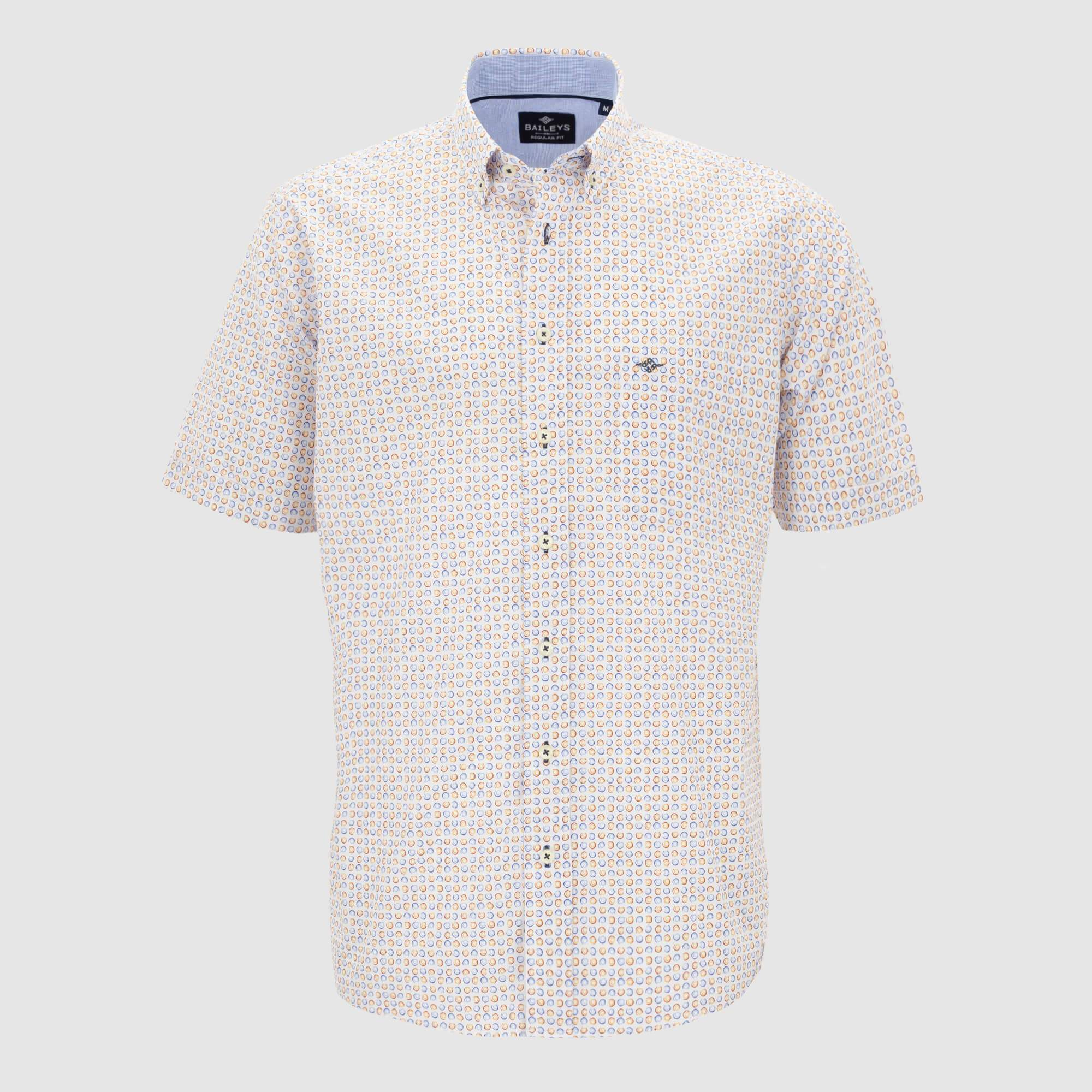 Camisa estampada manga corta regular fit 106676