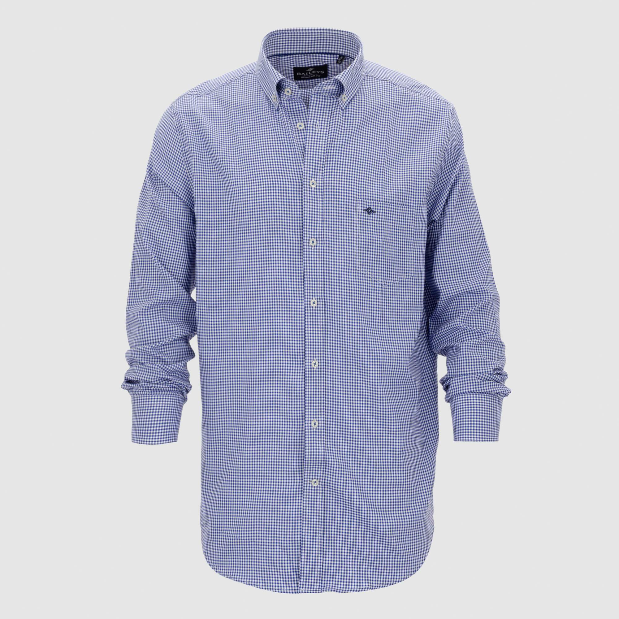 Camisa microcuadros regular fit 107300
