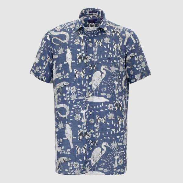 Camisa estampada diseño slim Fit 106821