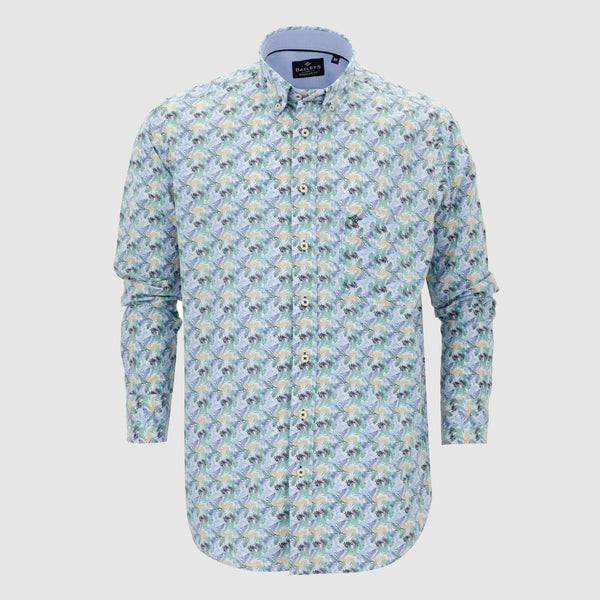 Camisa estampada regular fit 107690