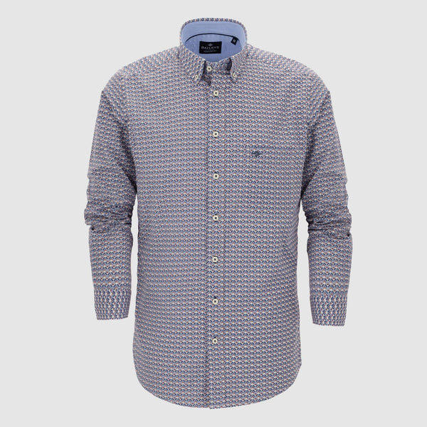 Camisa estampada corte regular fit 927687