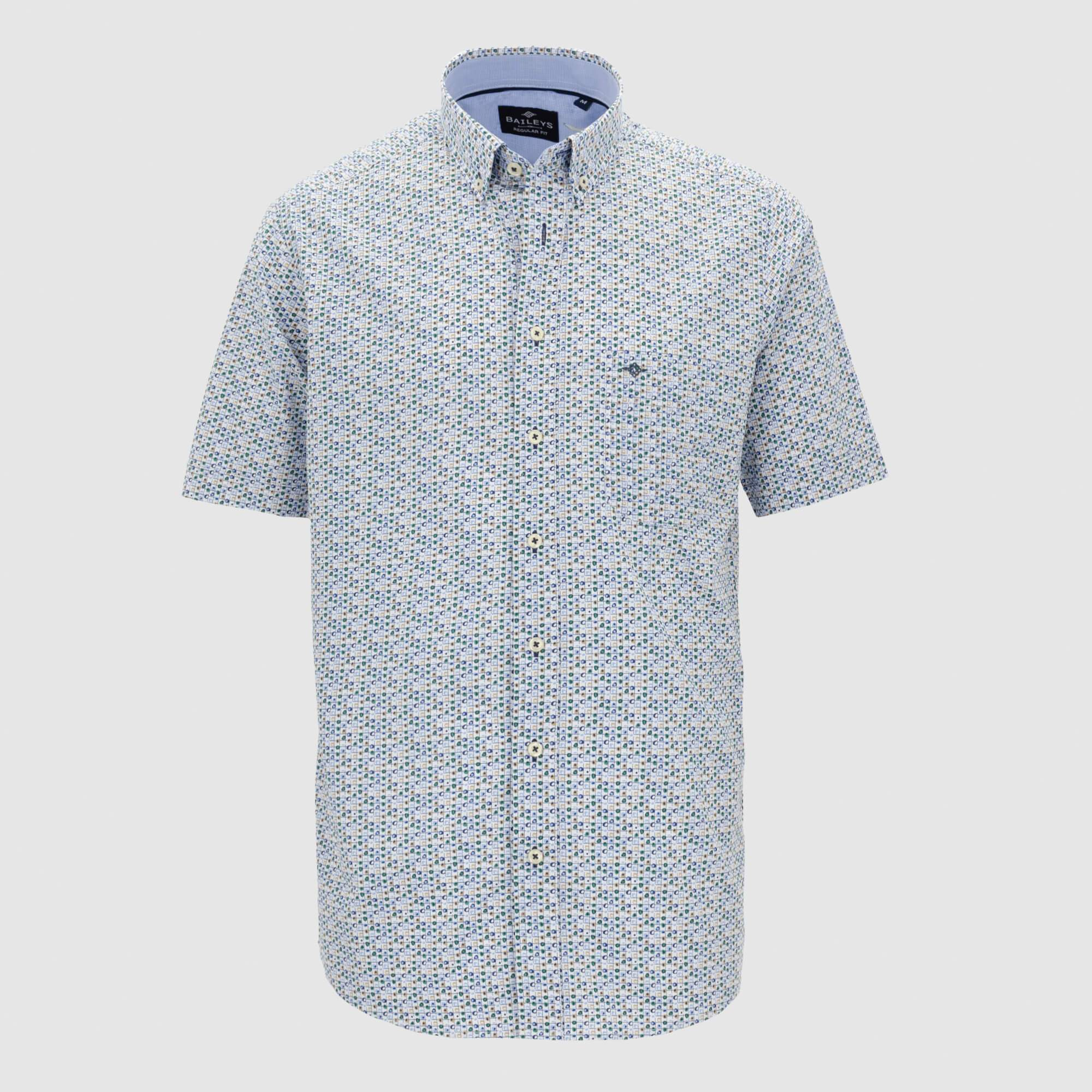 Camisa estampada manga corta regular fit 106693