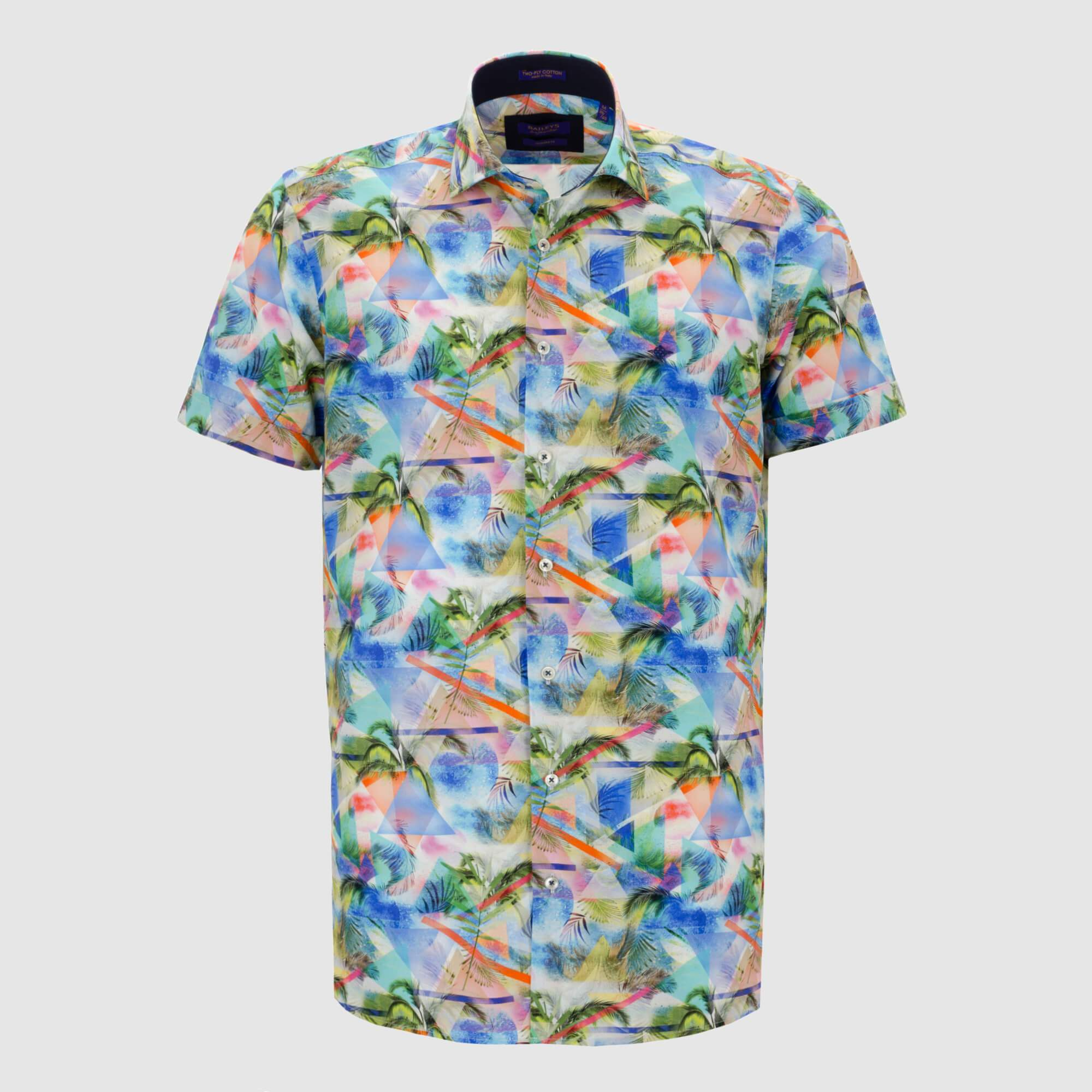 Camisa estampada diseño slim Fit 106806