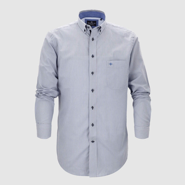 Camisa casual de rayas corte regular fit 927115