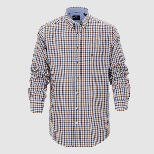 Camisa de cuadros corte regular fit 927672