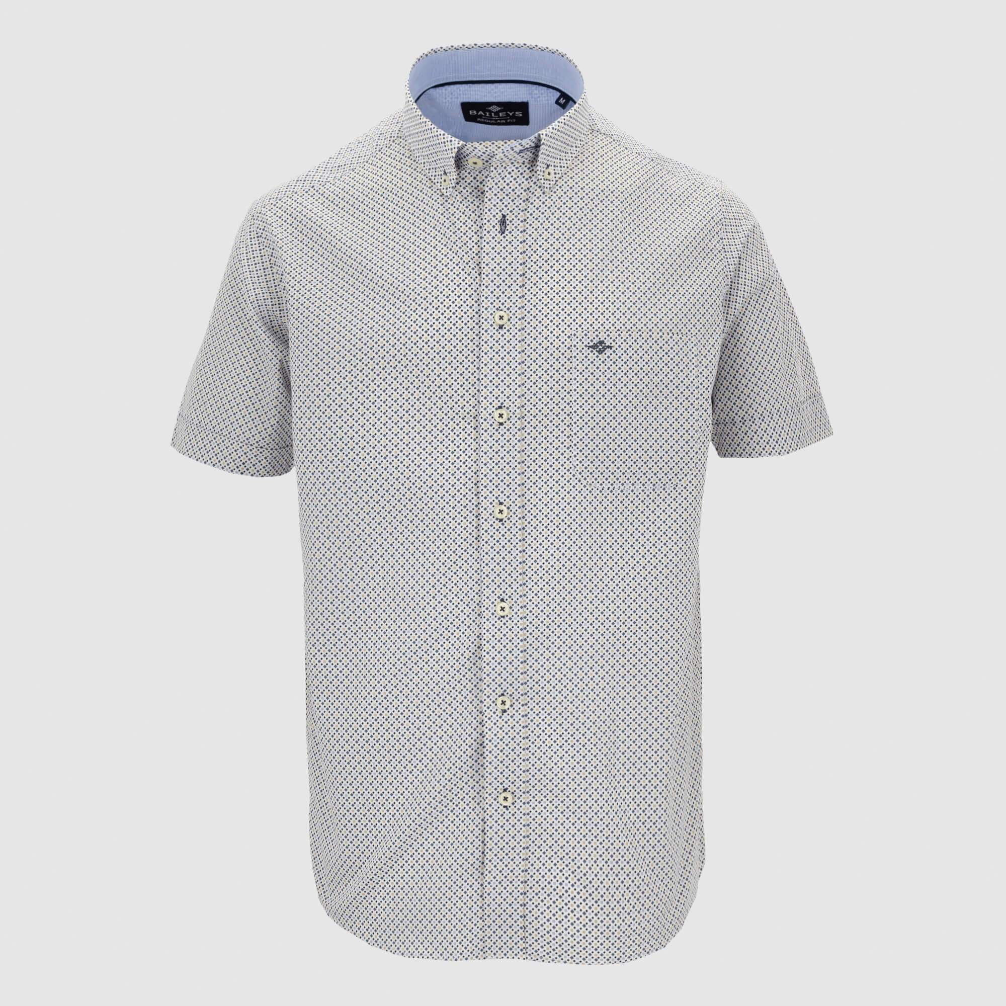 Camisa estampada manga corta regular fit 106698