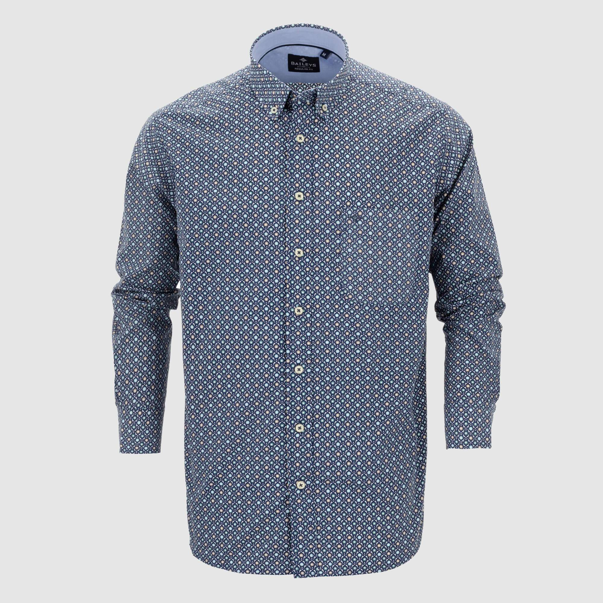 Camisa estampada regular fit 107689