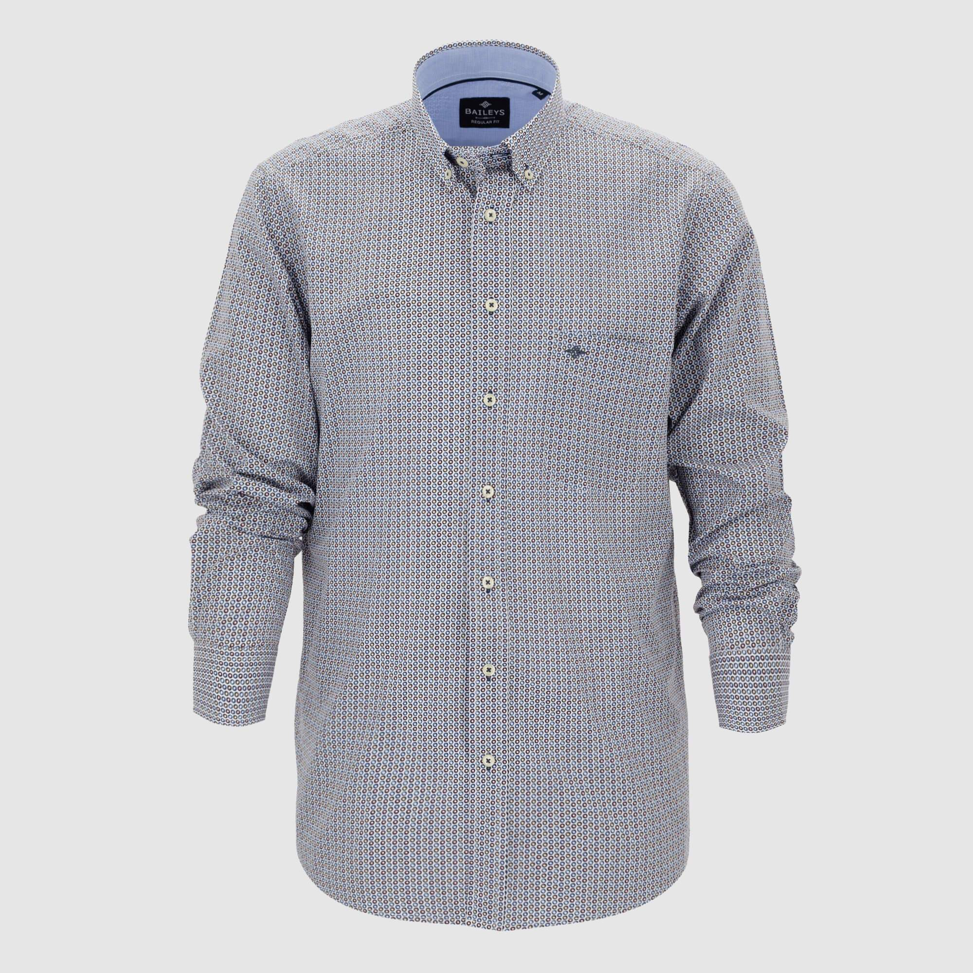 Camisa estampada corte regular fit 927686