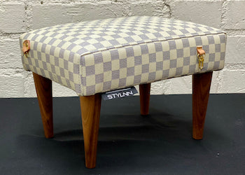 Custom STYLNN® Designer Purse Stool Made w/ Your Vintage Handbag  | STYLNN® - STYLNN Best Sofa Spring System