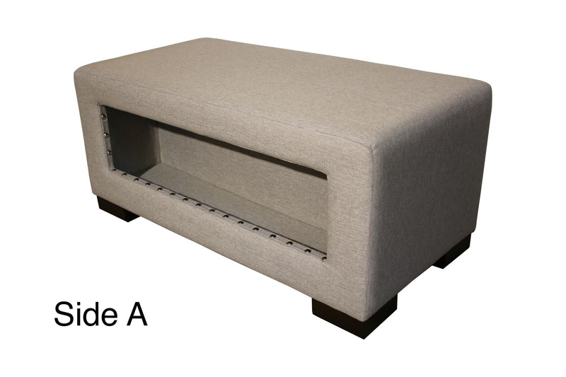 Helo #3 Nailheads | Double Storage Bench | Latex | - STYLNN Best Sofa Spring System
