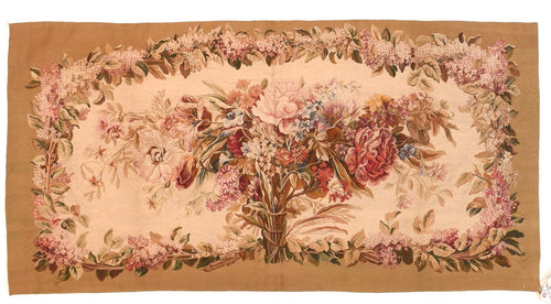 Antique Beige Aubusson-Beauvais French Tapestry Area Rug
