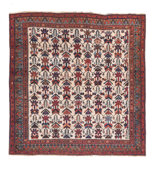 Antique Red Afshar Persian Area Rug