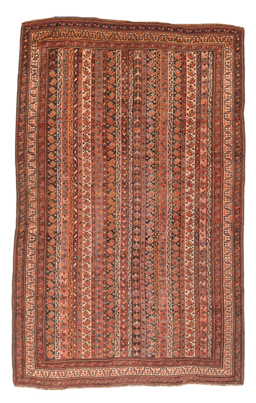 Antique Rust Afshar Persian Area Rug