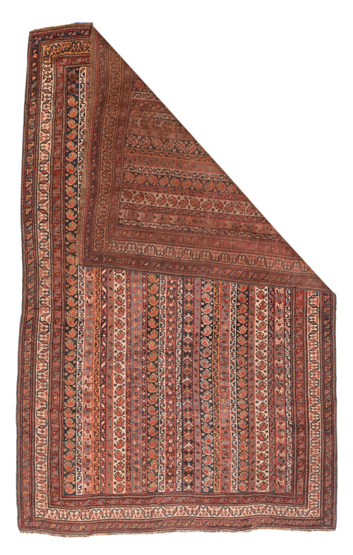 Antique Afshar Persian Scatter Rug