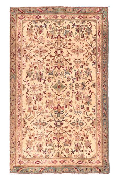 Antique Beige Agra Indian Area Rug