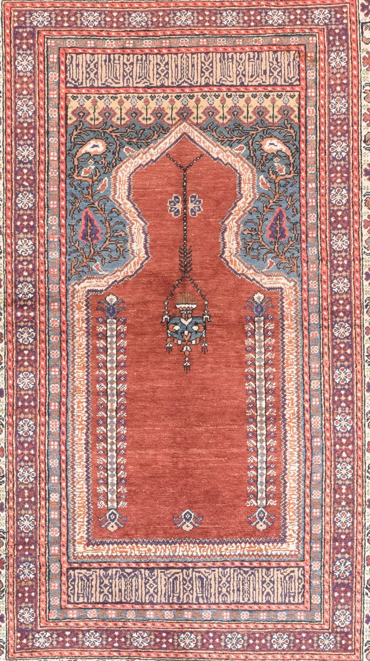 Semi Red Turkish Area Rug