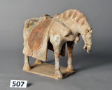 Horse With Saddle Clay Pottery