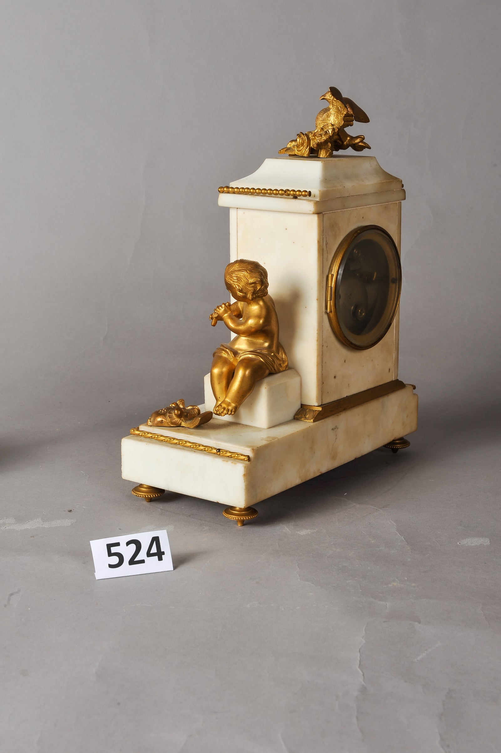 Angel Clock And Candelabra Pair