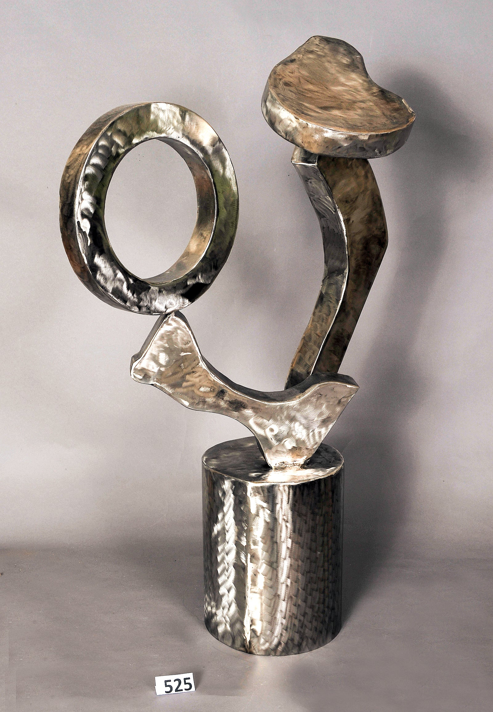 Suspension. Stainless Seel Sculpture.