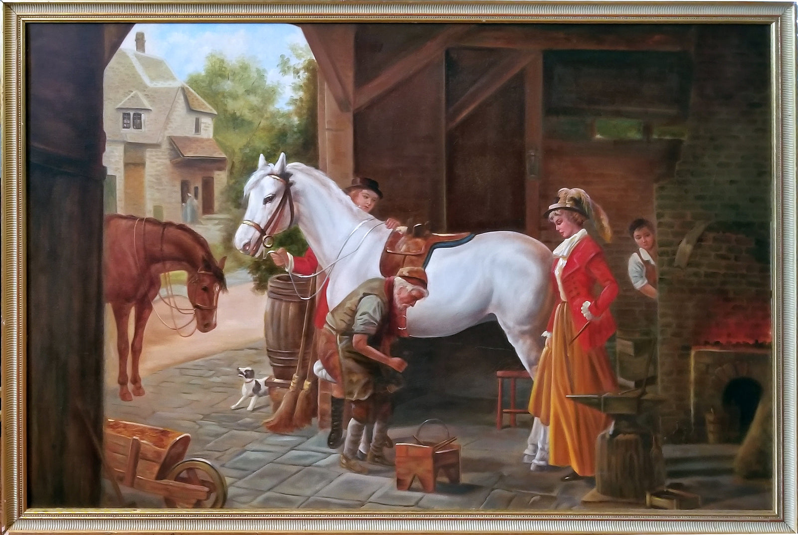 changing horseshoes by french artist armin