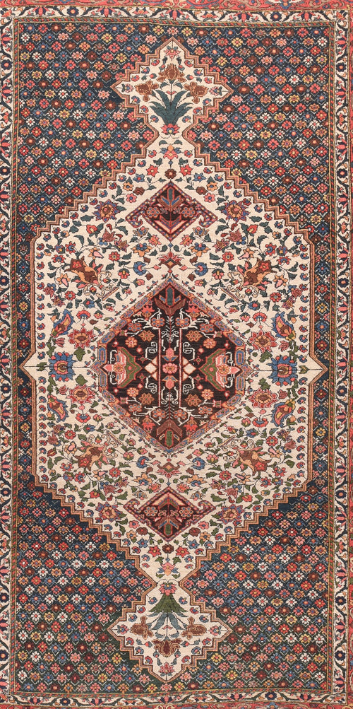 Antique Bakhtiari Persian Area Rug