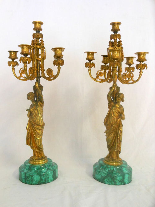 Candelabra With Woman Stand Decal