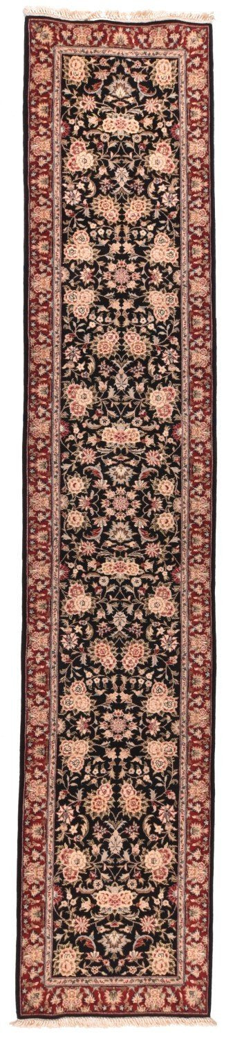 Hand Made Silk And Wool Tabriz Rug