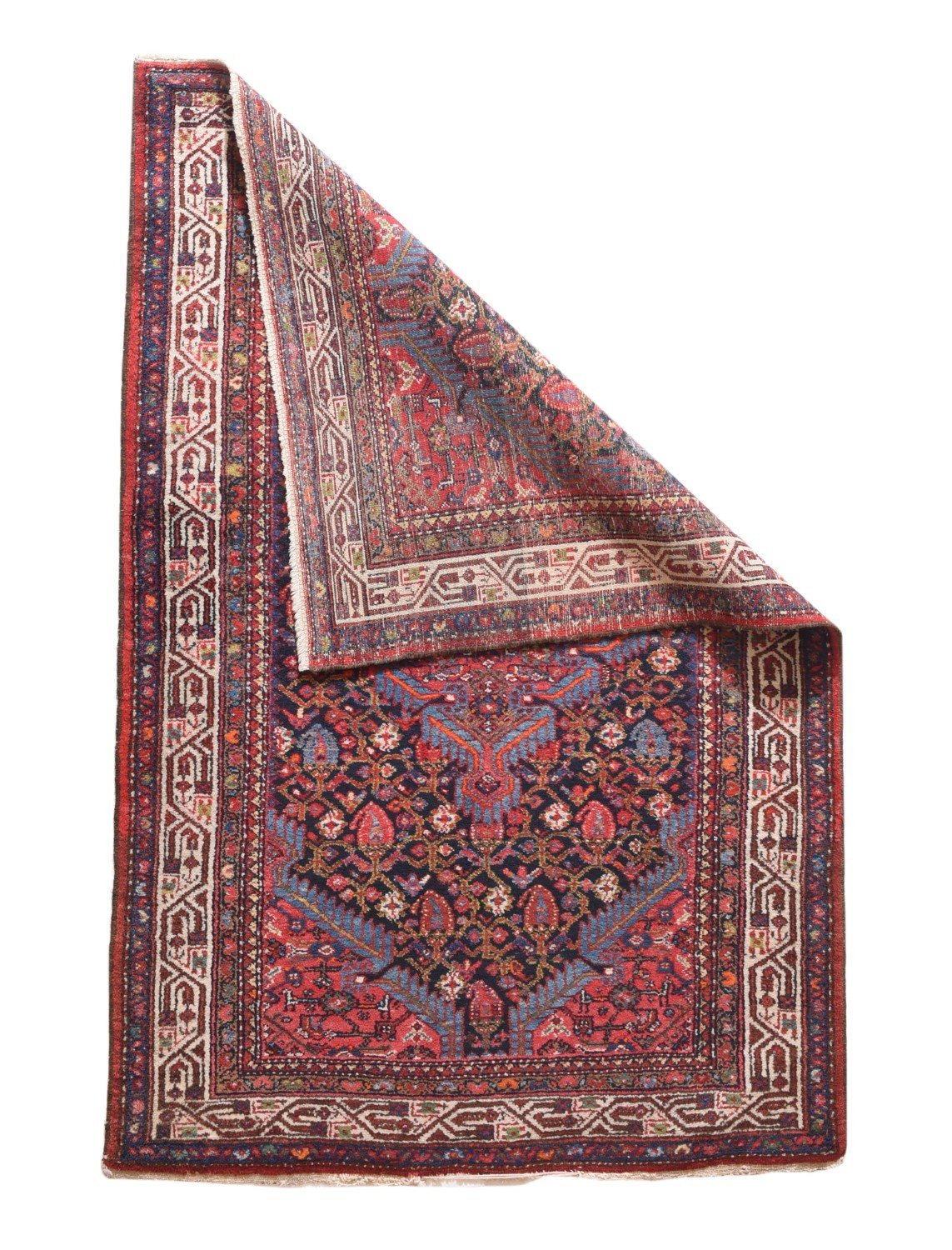 "Antique Persian Malayer, Size 3'4"" X 5'0"""