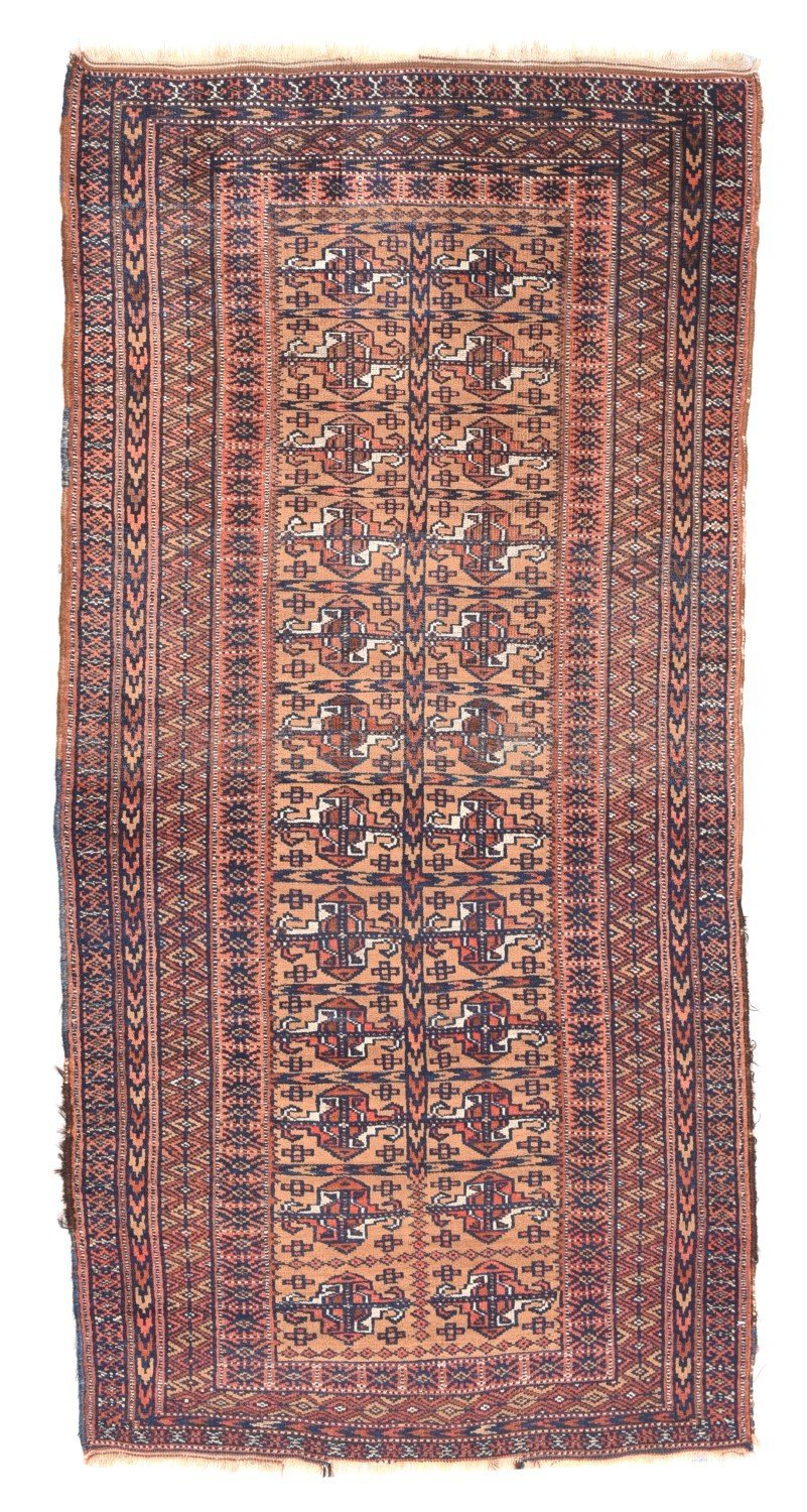 "Antique Persian Turkoman, Size 3'0"" X 5'9"""