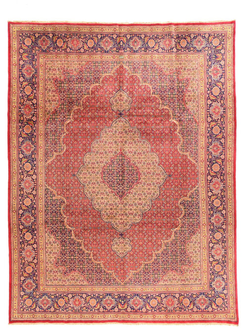 "Antique Hand Knotted Persian Tabriz, Size 9'8"" X 12'8"""