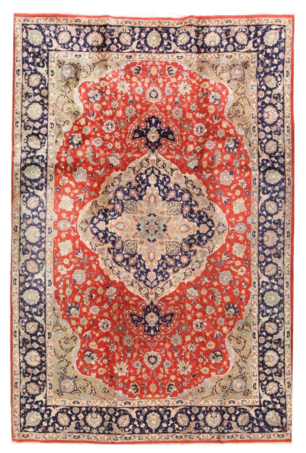 "Antique Persian Tabriz, Size 6'6"" X 9'10"""
