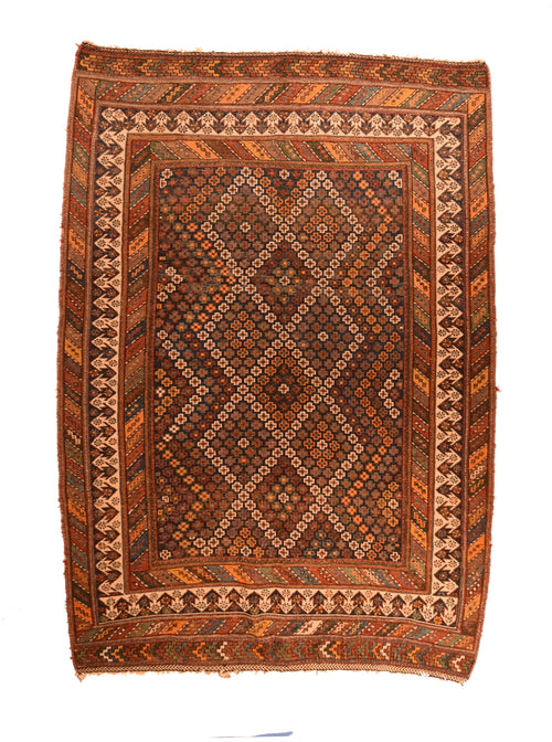 Antique Persian Tribal Soumak Flat Weave