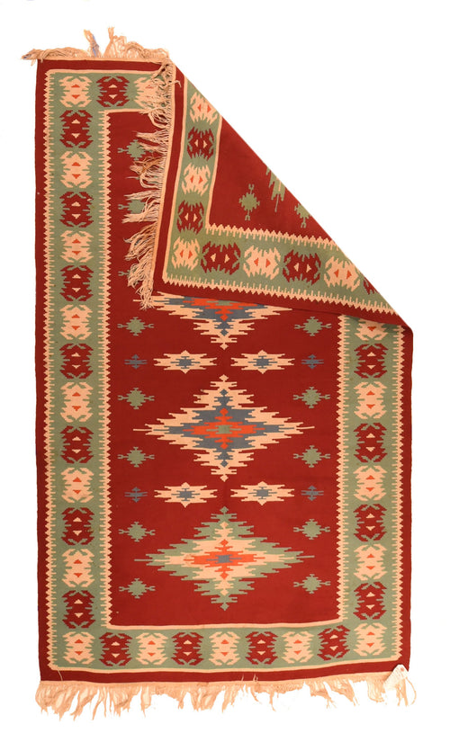 Fine Vintage Turkish Tribal Kilim