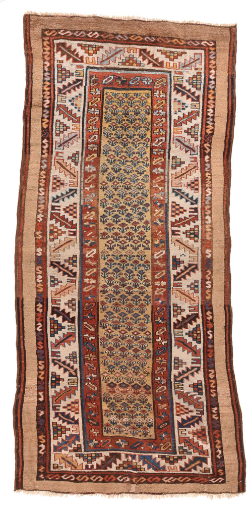 Antique Camel Camel Bakshayesh Tribal Persian Area Rug