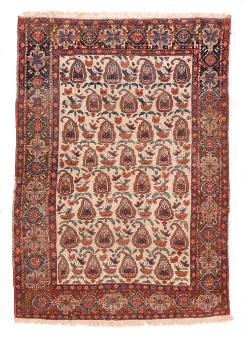 Antique Beige Beige Afshar Persian Area Rug