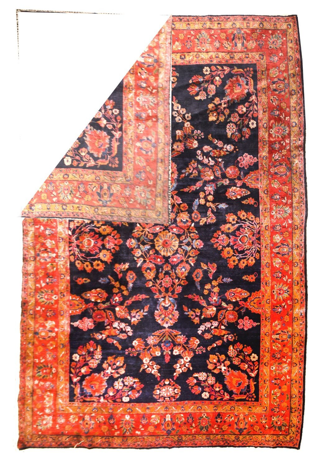 Antique Persian Rug Sarouk Mohajeran